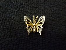 VINTAGE FTJ-10KT-YELLOW GOLD BUTTERFLY PENDANT WITH REAL DIAMONDS--VERY NICE