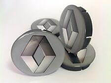 RENAULT Cache Moyeux Centres de Roue Silicone Emblem 4p x 60mm/55mm  *NEUF*