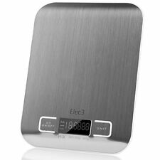 Elec3 Digital Multifunction Kitchen and Food Scale, 11lb/5kg Stainless Steel LCD