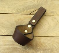 Handmade bushcraft Leather tomahawk hammer axe belt loop holster