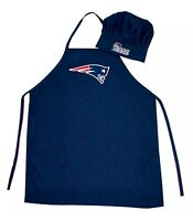 New England Patriots NFL Barbecue Tailgating Apron & Chef's Hat