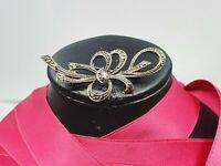 Jugendstil Art Deco Brosche Silber Markasiten aus Sammlung  Schleife Geschenk
