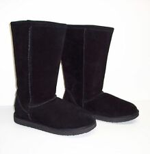 Womens Melrose Ave Tally Black Suede Boots sz 6 Mid Calf