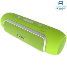 Bluetooth Speaker Android iPhone iPod 24 Watts 24hr Battery AZATOM STORM GREEN