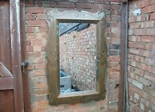 Rare Welded Metal Antique Vintage Arts and Craft style Iron  steel Mirror