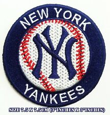 "New York Yankees 3""inches Baseball Sport Embroidered Patch logo iron&sewing on"