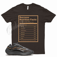 Brown SUCCESS FACTS T Shirt for Yeezy 700 V3 Clay Brown 350 380 500 Mocha Wheat