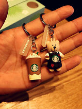 New China 2017 Starbucks Limited Edition Candy Bear And Frappuccino Keychain 2pc