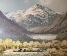 Signed Lithograph of Western Mountain Valley, Framed at NYC Gallery