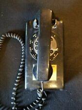Vintage Gorecki Electronics Inc Rotary Dial Wall Mount Landline Phone Black