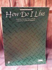 WB 1997 Con Air How Do I Live Diane Warren Original Sheet Music Edition Lyrics