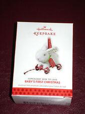 NIB HALLMARK ORNAMENT 2013 Baby's First Christmas Somebunny New to Love Bunny