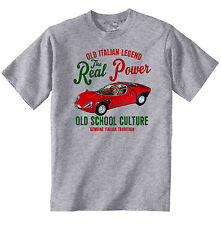 VINTAGE ITALIAN CAR ALFA ROMEO 33 STRADALE - NEW COTTON T-SHIRT
