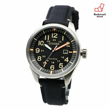 New CITIZEN Aviator Watches Eco-Drive Nylon Belt Waterproof Men's AW5000-24E