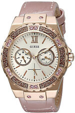 Reloj Guess Rose Gold Women Mujer Bracelet Crystal Leather Strap Hand Watch Arm