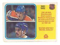 1982 83 OPC O Pee Chee 237 Wayne Gretzky Michel Goulet Hockey Card E686