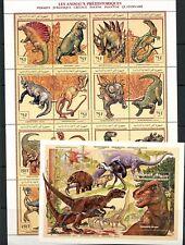U180 Comoros  1994  dinosaurs  FOLDED-ONCE sheets   MNH