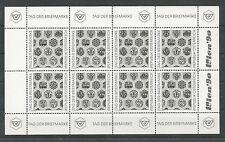 Österreich 1990 Kleinbogen Schwarzdruck Tag der Briefmarke gezähnt **
