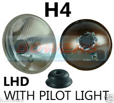 "7"" LHD EURO CLASSIC CAR SEALED BEAM HEADLAMP HEADLIGHT HALOGEN H4 CONVERSION"