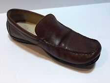 ECCO Men's Coffee Brown Leather Classic Driving Loafers Slip Ons , Size 41
