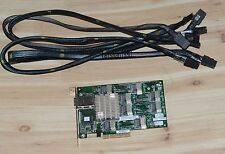 HP 24 Port PCI-E 3Gb SAS Standard Profile Expander Raid Card 487738-001 + 4XCord