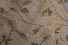 """""""Lysa"""" an embroidered leaf and vine decorator fabric by Bravo in estuary (linen)"""