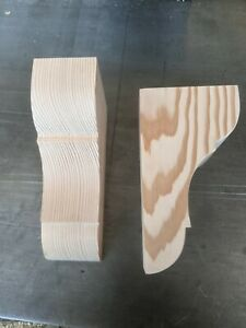Wooden Corbels (Shelf Brackets) made from solid pine for mantle shelf  fireplace