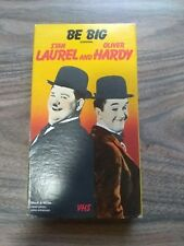 STAN LAUREL AND OLIVER HARDY - BE BIG - COMEDY - VHS VIDEO - 1987
