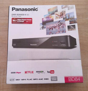 Panasonic DMP-BD84EB-K Smart Blu-ray Player MULTIREGION for DVD With HDMI Cable