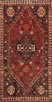 Vintage Abadeh Geometric Tribal Hand-knotted Area Rug Wool Oriental 3'x5' Carpet