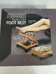 """Footrest Adjustable Fold-A-Way Tapestry Adjust to 14"""" """"New Open Box"""""""
