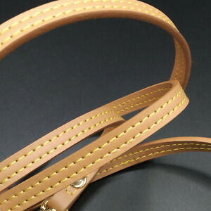 """47"""" Natural Crossbody Vachetta Leather Strap Replacement For Louis Vuitton Honey"""