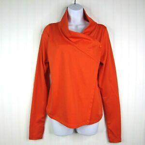 Arc'teryx Yonge Wrap NWT Long Sleeve Size S Cardigan Top Thumb Holes Orange