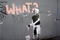 Banksy- What Kid- Graffiti street art