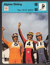 BERNHARD RUSSI ROLAND COLLOMBIN HEINI MESSNER Alpine Ski 1978 SPORTSCASTER CARD