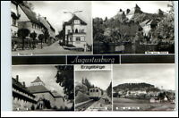 AUGUSTUSBURG Erzgebirge DDR Mehrbild-AK ua. Drahtseilbahn, Blick Kirche, Schloss