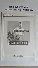(W01) Werberatschlag - STADT DER FREUDE  Patrick Swayze