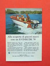 D160 - Advertising Pubblicità - 1959 - EVINRUDE MOTORI FUORIBORDO