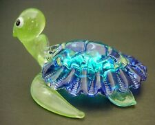 Curio Display Glass TURTLE Aquarium Glass Ornament Turquoise Green Glass Animal
