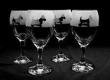 More details for scottish terrier dog wine glasses.  boxed