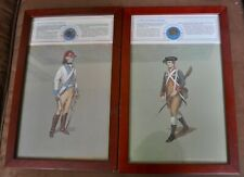 Pair of Revolutionary War Soldiers with Reprod. Uniform Buttons Framed Prints #1
