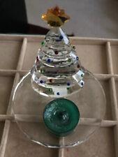 Partylite SPARKLE LITE Crystal Christmas Tree Tea Light Candle Holder No Box
