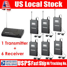 Takstar WPM-200 UHF Wireless Monitor System In-Ear Stereo Transmitter&6Receiver
