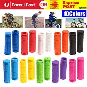 1Pair Mountain Bike Non-slip Cycling Bicycle Durable Rubber Handlebar Grips Soft