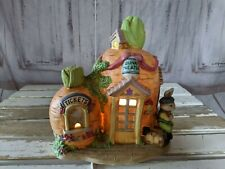 Vintage Easter Bunny Lighted Carrot House Bunny Theater Ticket Booth Home Decor