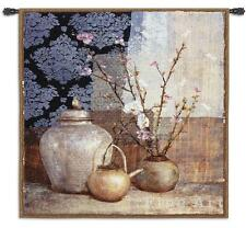 53x53 ASIAN STILL LIFE Floral Tapestry Wall Hanging