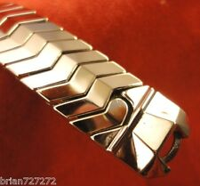 Vintage Unused 14mm Glenn 10K White Gold Filled Expanding Watch Band Bracelet