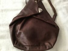 Russell and Bromley Brown Leather Backpack.