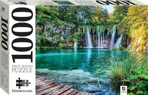 Plitvice Lake and Waterfalls, Croatia Mindbogglers 1000 Piece Jigsaw Puzzle