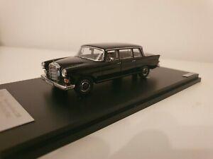 1/43 scale RARE! GLM Mercedes Benz 200 W110 Lang Binz 1965 Black Brand New